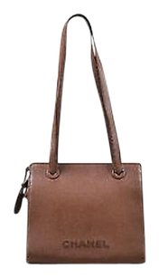 Chanel Grained Leather Tote in Brown
