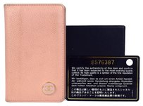 Chanel Auth CHANEL CC Logos Bifold Card Case Wallet Purse Leather Pink France 01C714