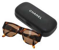 Chanel AUTH CHANEL CC LOGOS SUNGLASSES EYE WEAR PLASTIC BROWN ITALY VINTAGE S00147b