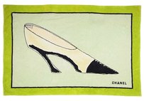 Chanel Auth CHANEL Pumps Shoes Design Beach Mat Towel Cotton F/S 9821eRN
