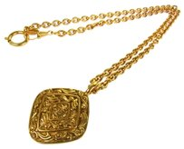 Chanel AUTH CHANEL VINTAGE CC LOGOS GOLD-TONE CHAIN PENDANT NECKLACE WITH BOX E04554A