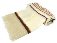 Chanel Authentic CHANEL CC Logos Stole Scarf Beige Ivory Mohair Italy Vintage LP06612