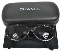 Chanel Authentic CHANEL CC Sunglasses Eye Wear Black Plastic Vintage Italy AK03357
