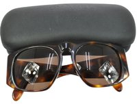 Chanel AUTHENTIC CHANEL CC SUNGLASSES EYE WEAR BROWN PLASTIC VINTAGE ITALY CASE AK00128