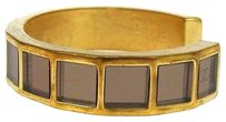Chanel Authentic CHANEL Vintage CC Logos Gold-Tone Bangle France Accessories LP04326