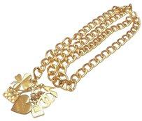 Chanel Authentic Chanel Vintage Goldtone Multi Charm Chain Belt