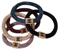 chanel Authentic chanel VIP gift elastic cashmere hair tie ponytail set of 5 BEIGE NOT AVAILABLE WILL BE REPLACE W/PURPLE