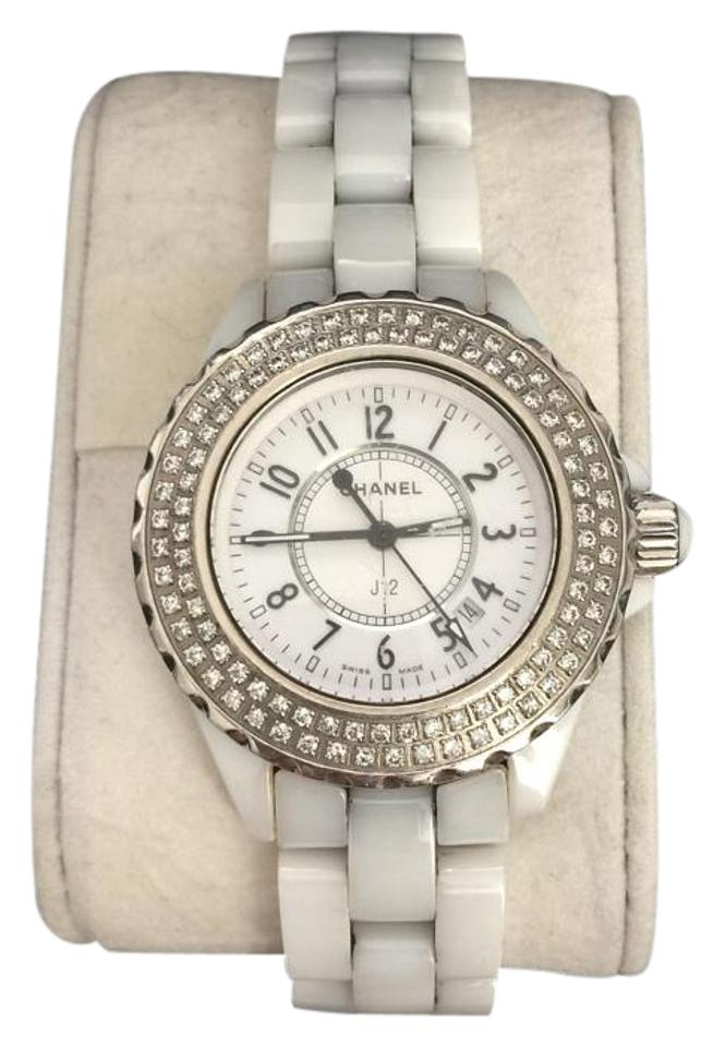 Chanel authentic white ceramic j12 33mm double row diamond bezel watch 83 off retail - Find porcelain accessory authentic ...