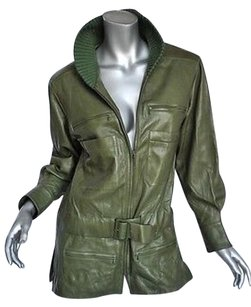 Chanel Green Lambskin Greens Jacket