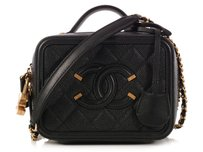 Chanel Black Cc Ch.k1007.01 Small Leather Cross Body Bag
