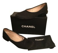 Chanel Clean Silk Cc Black Flats