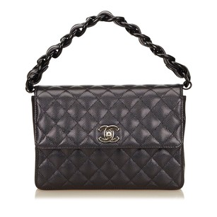 Chanel Black Leather Others Shoulder Bag