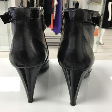 Chanel Classic Leather Patent Leather Black Boots