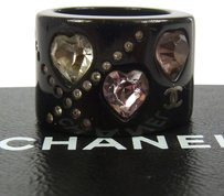 Chanel Black Rhinestone Ring