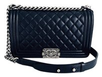 Chanel Boy Boy Quilted Boy Cross Body Bag