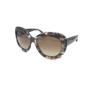 Chanel Brown Multi Square Butterfly Tweed Polarized Sunglasses