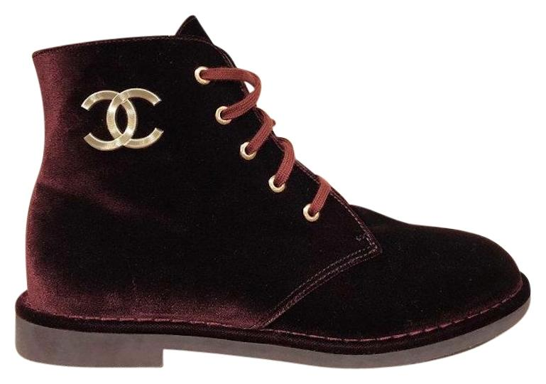 CHANEL Velvet Ankle Boots Cy5Ic4s7Tx