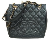 Chanel Caviar Leather Leather Tote in BLACK