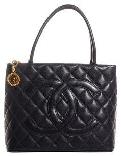 Chanel Caviar Quilted Medallion Cc Tote