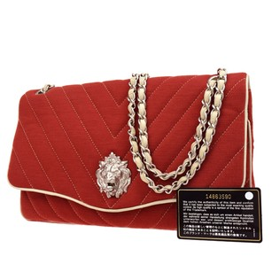 Chanel Chain Cotton Shoulder Bag