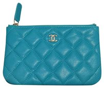 Chanel Chanel 17C turquoise mini o case / wallet