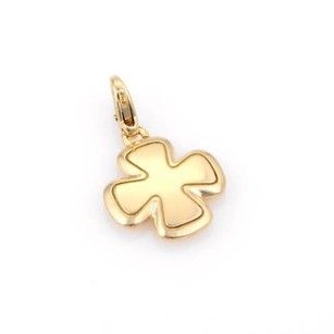 Chanel Chanel 18k Yellow Gold Cross Pendant Charm