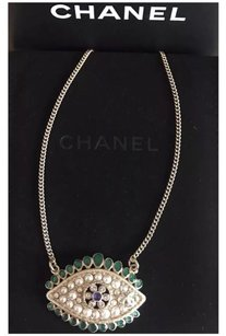 Chanel Chanel 2016 CC Pearl Evil Eye Necklace
