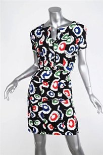 Chanel Chanel 97s Black Multicolor Short-sleeve Jacketstrapless Dress Outfit Set Xss