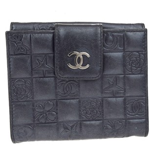 Chanel CHANEL Bifold Wallet Leather Black