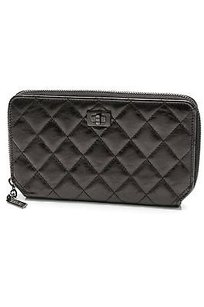 Chanel Chanel Black Quilted Calfskin Reissue Zipped Long Wallet