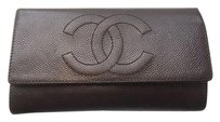 Chanel Chanel Brown Caviar Leather Wallet