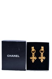 Chanel Chanel CC Cross Earrings
