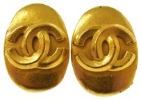 Chanel CHANEL CC Earrings Gold-Tone Clip-On Accessories