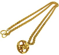 Chanel CHANEL CC GOLD CHAIN PENDANT NECKLACE FRANCE