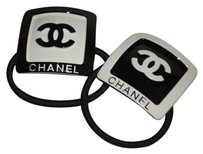 chanel Chanel CC logo Hair tie VIP skin care gift SET OF 2