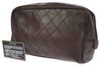 Chanel CHANEL CC Logos Quilted Cosmetic Bag