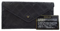 Chanel CHANEL CC Logos Quilted Leather Long Bifold Wallet Purse