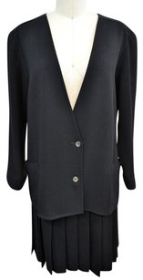 Chanel Chanel For Amen Wardy Black Piece Jacket Pleated Skirt Suit