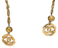 Chanel Chanel Gold CC Vintage Wrap Around Long Necklace