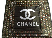 Chanel Chanel Green Silk Scarf