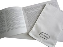 Chanel Chanel Handbag Glove Polishing Cloth With Care Booklet and Chanel Shopping bag
