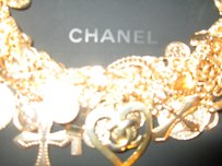 Chanel Chanel Heart Charm Pendant Chunky Twisted Gold Chain Necklace And Case