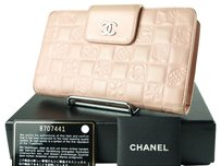 Chanel Chanel Icon Leather Pink Bifold Wallet