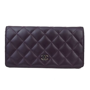 Chanel CHANEL Long Bifold Wallet Purse Leather
