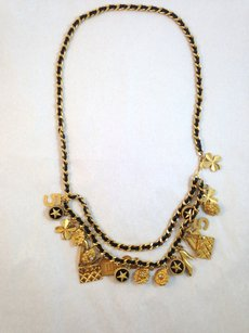Chanel CHANEL Rare Vintage '93A Gold Plated Multi Charm Necklace