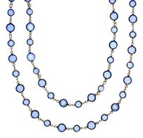 Chanel Chanel Vintage Blue Chicklet Sautior Necklace