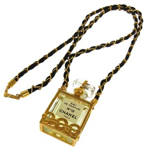 Chanel CHANEL VINTAGE CC LOGOS GOLD CHAIN PERFUME PENDANT NECKLACE