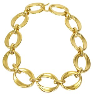 Chanel Auth Chanel Vintage Gold Chain Necklace Choker seen on Nichole Richie