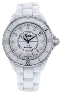 Chanel Chanel J12 Diamond White Ceramic Midsize Unisex Watch H1629 With Box Max062561