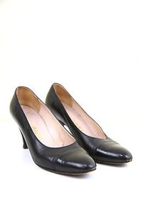 Chanel Leather Vtg Black Pumps